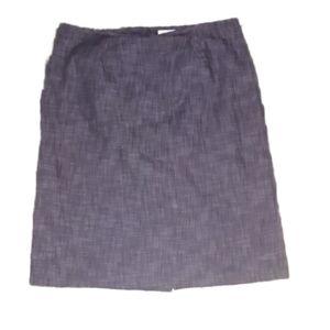 Isabella Pencil Skirt Chambray Denim Size 14W